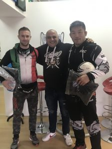 Professional MMA fighters visit Masaprint